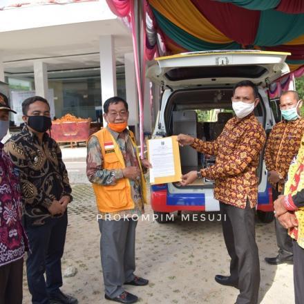 Kabupaten Mesuji mendapat hibah bantuan dua unit mobil ambulans dari Pemprov