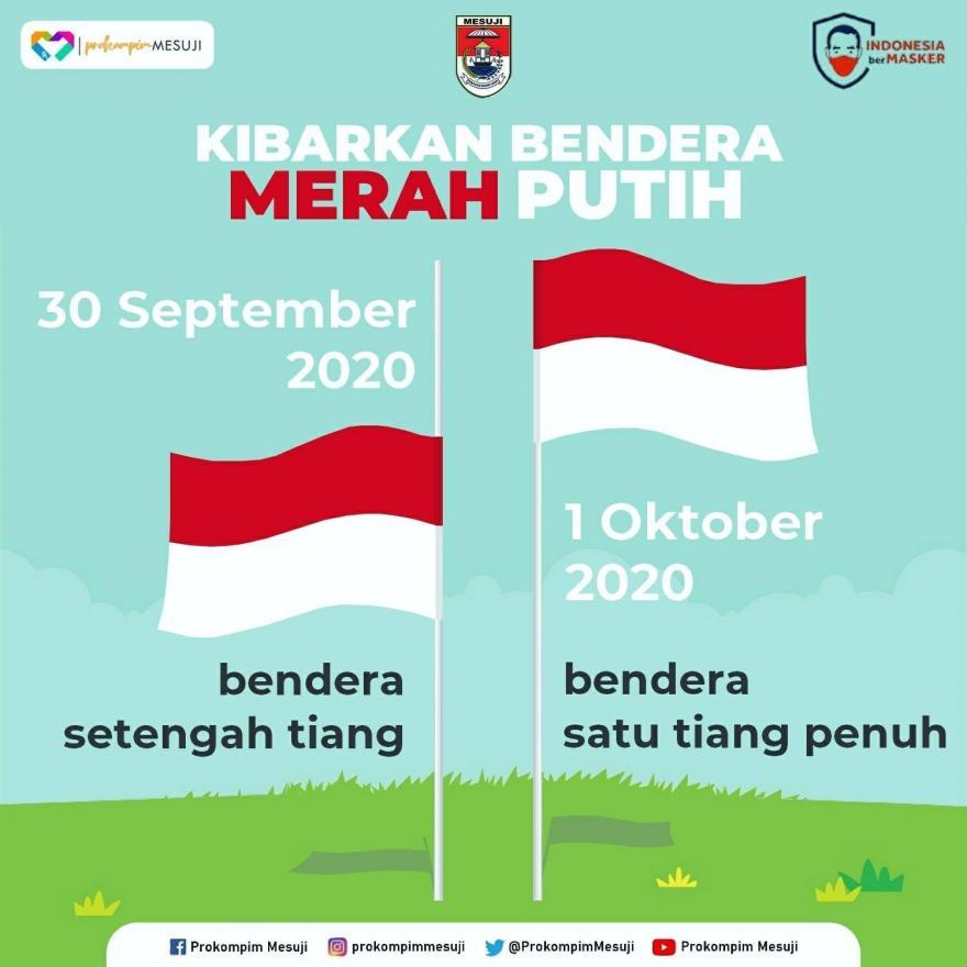 Hari Kesaktian Pancasila, Mohon Untuk Mengibarkan Bendera Merah Putih Setengah
